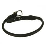 Schwarz Rund Halsband für Hunde aus Leder