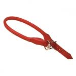 Rot Rund Halsband für Hunde aus Leder