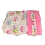 Schlafsack für Chihuahua aus Rosa Kunstpelz