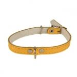 Billig Halsband für Hund aus Leder Gelb