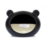 Schwarz Hundehöhle für kleine Hunde mit Beige Kissen