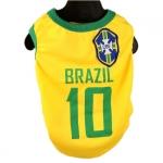 Brazil Fußball T-Shirt für Hunde