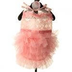 Rosa Kleid für Hochzeiten für Chihuahua und kleine Hunde