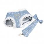 Hellblau Harness mit Spitze für kleine Hunde