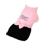 Cappottino Rosa per cani con Gonna Nera