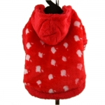 Fleece Sweatshirt for Small Dogs Apple in Red