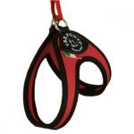 Brustgeschirr für kleine Hunde mit Kordelzug in Rot