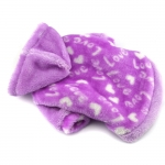 Fleece Sweatshirt for Small Dogs Love in Lilac
