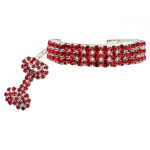 Necklace with Strass for Small Dogs in Red