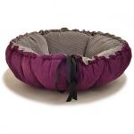 Hundebett/Hundekissen Kalendula in Violett und Grau