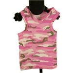Pink Camo Dog Vest in Cotton