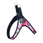 Rosa Tarnung Hundegeschirr mit Verschlussklammern
