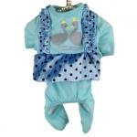 Pijama Azul Claro para Chihuahua y Perros Pequeños