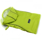 Bright Green Raincoat Small Dogs with Velcro