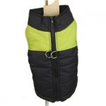 Grün und Schwarz ärmellose Jacke für Dackel