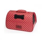 Halbstarre hundetasche für kleine hunde mit Schultergurt in Rot
