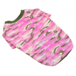 Pink Camouflage T-Shirt for Medium and Big Dogs