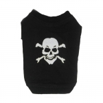 Black T-shirt with Skull for Small Dogs