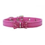 Halsband kleine Hunde mit Bogen mit Strass in Rosa