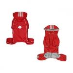 Rot Regenmantel 4 Pfoten mit Abnehmbarer Kapuze für kleine Hunde