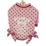 Rosa Sweatshirt für Hunde mit Tupfen Sweet Dreams