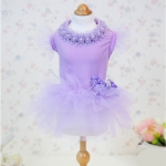 Stilvoll Lavendel Kleid für Hunde mit Tüllrock