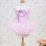 Sommer-Kleid 1000 Linien mit Tüllrock Rosa