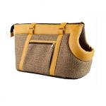 Elegante Tasche für kleine Hunde in Gelb