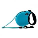 Einziehbare Hundeleine Hellblau für kleine Hunde mit Gurt