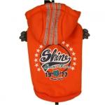 Orange Shine Sport Sweatshirt für kleine Hunde