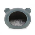 Grau Hundehöhle für kleine Hunde mit Grau Kissen