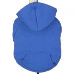 Königsblau Hoodie für kleine Hunde aus Baumwolle