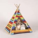 Bett für Chihuahua und kleine Hunde in Form eines Indianerzeltes