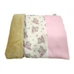 Rosa Schlafsack für kleinen Hund mit Schmetterlingen