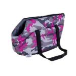 Hundetragetasche aus wasserdichtem Stoffe in Camouflage Rosa