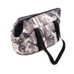 Hundetragetasche aus wasserdichtem Stoffe in Camouflage Grau
