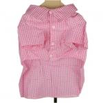 Pink kariertes Hemd für Hunde