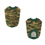 Green Camo Cotton T-Shirt for Large Dogs