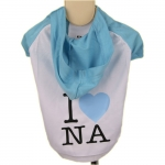 Hellblau T-Shirt I LOVE NAPOLI mit Kapuze
