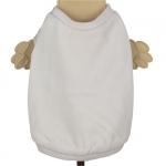 Weiß Einfarbig Hund T-shirt