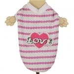 Sommer T-Shirt für Hunde Love Rosa