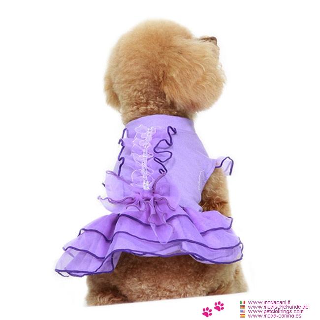 Vestito Per Da Color Cagnolina Cerimonia Lavanda xEoQerdCBW