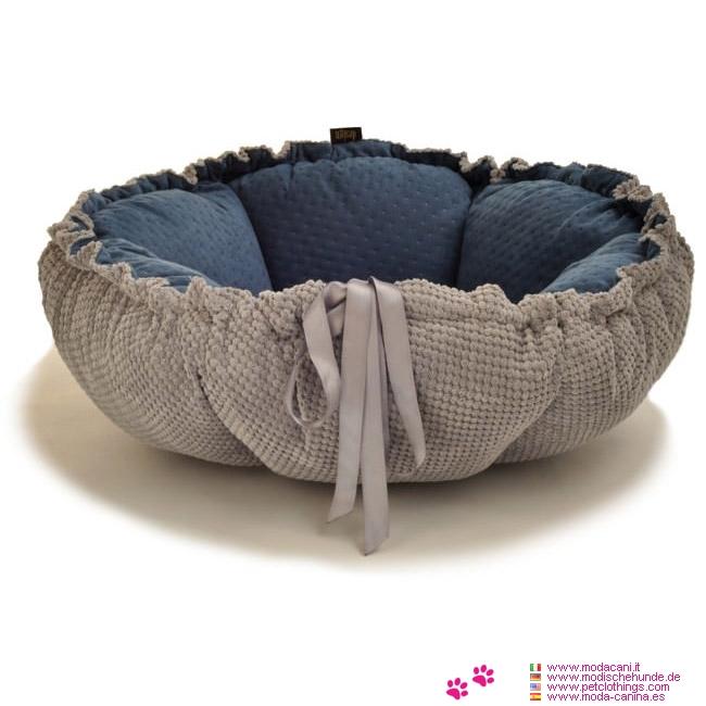 coussin panier pour chien marigold bleu et gris. Black Bedroom Furniture Sets. Home Design Ideas