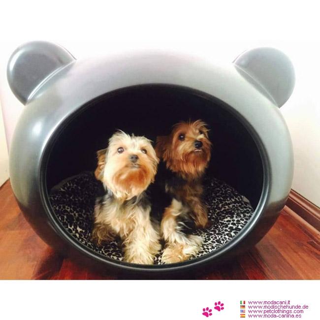 panier t te noir pour petite chien chihuahua caniche yorkshire avec coussin leopard. Black Bedroom Furniture Sets. Home Design Ideas
