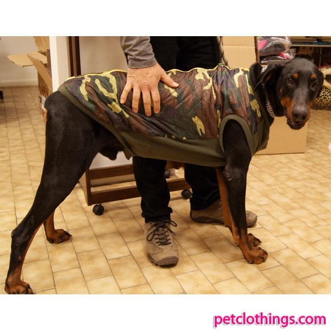 a825d9e94d18a Chaqueta Camuflaje para perros grandes con una abertura en la parte  posterior