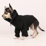 Felpa Nera con zip per cani