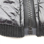 Black Jacket for Large Dogs with Opening on the Top