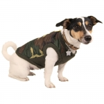 Green Camouflage Quilted Jacket for Dogs