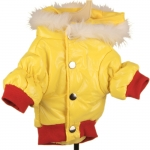 Yellow and Red Winter Coat for Small Dog