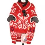 Suéter Rojo para Perros en Fantasía de Invierno